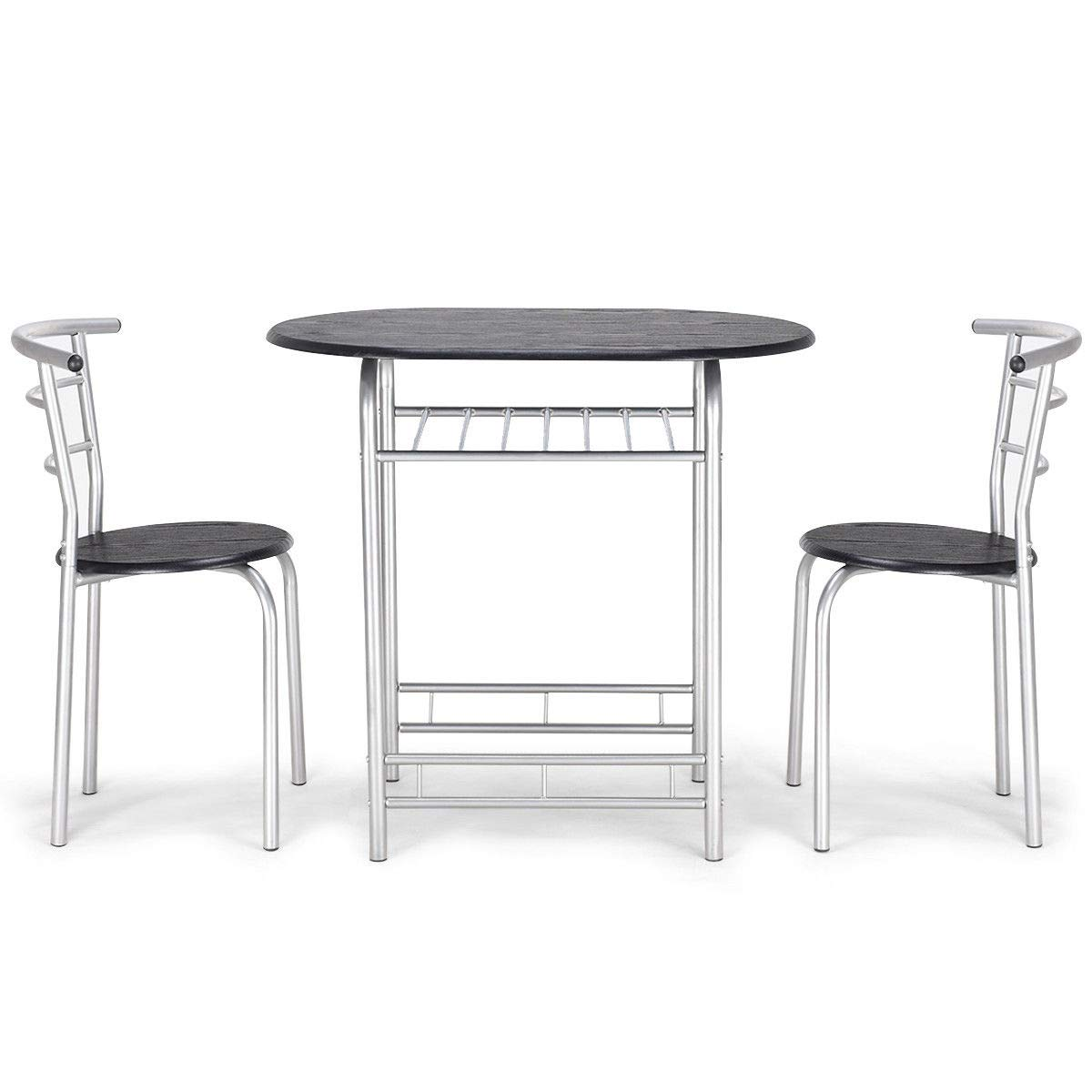 3 PCS Bistro Dining Set Table/and 2 Chairs Kitchen Furniture Pub Home Restaurant