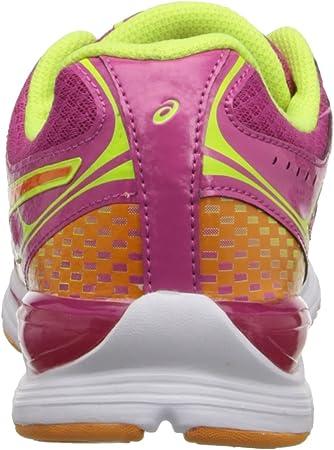 Asics Gel-Storm Fibra sintética Zapato para Correr, Raspberry/Mango/Flash Yellow, 38