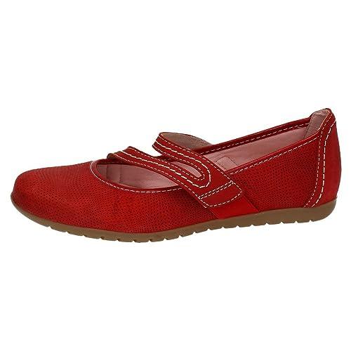 Mocasines rojos mujer