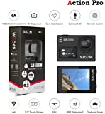 Action Pro SJCAM SJ6 Legend 4K Wifi Action Dual Screen Camera with 16MP Remote, 0.9 Front LCD Screen,Gyro Stabilization and Microphone(Black)