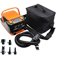 Rechargeable Sup Air Pump Electric Portable, 16PSI 12V with Built-in 6000mAh Battery, Stand Up Paddle Board Electric…