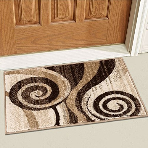 Well Woven 600583 Brown Whirlwind Modern Abstract Swirls 2