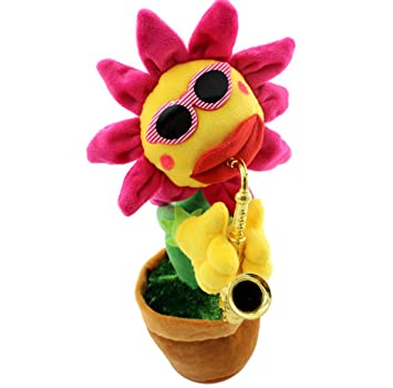 Szsmart Singing and Dancing Saxophone Sunflower Soft Plush Funny Creative  electric Toys Stuffed Toy Animated Dancing