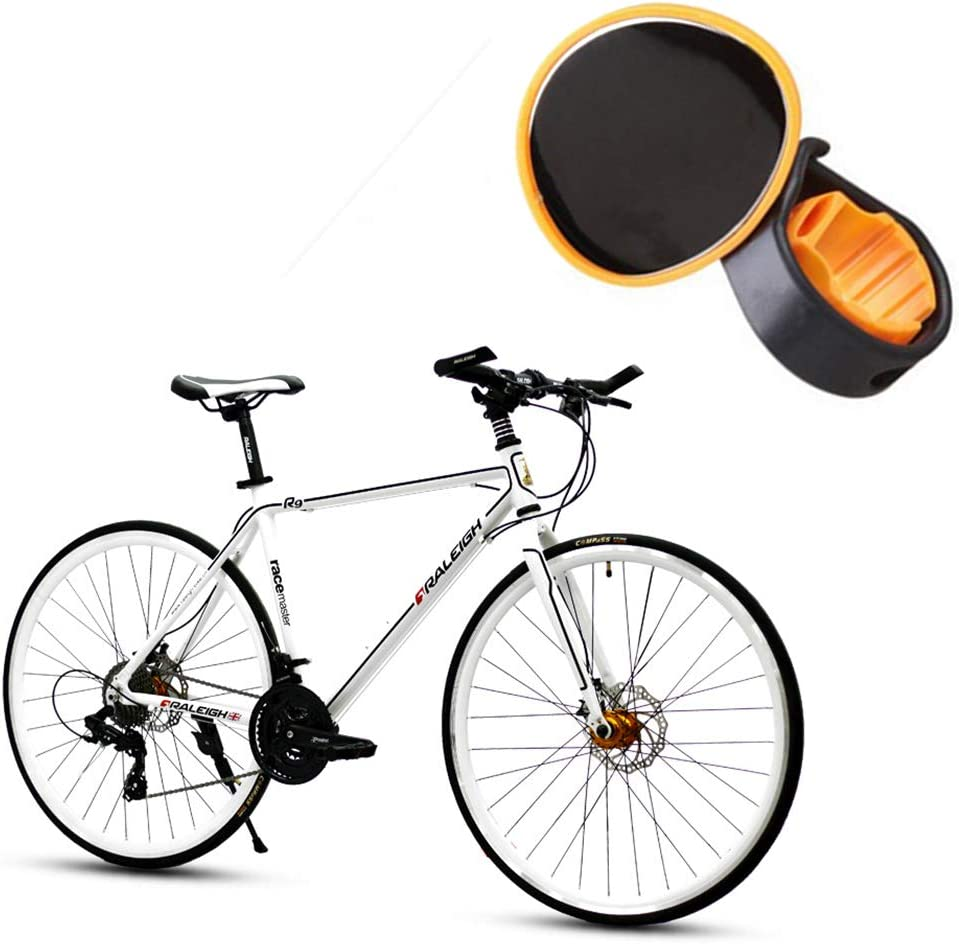 Bike Mirror Bicycle End Flexible Wristband Strap Reflex Rear View Mirror Rearview for Cyclists Mountain Road Bike Riding Yellow 1PC Bicycle Rear Mirror