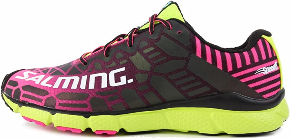 Salming Womens Enroute Pink/Saftey Yellow