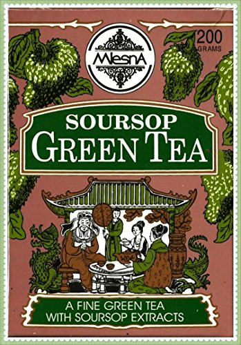 - Mlesna Pure Ceylon Soursop Green Tea Graviola Loose Tea Boxes. (200g (7.05))