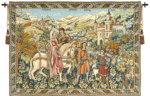 Tapestry, Extra Large, Wide - Elegant, Fine, French & Wall Hanging - Duc de Berry, B-H50xW70