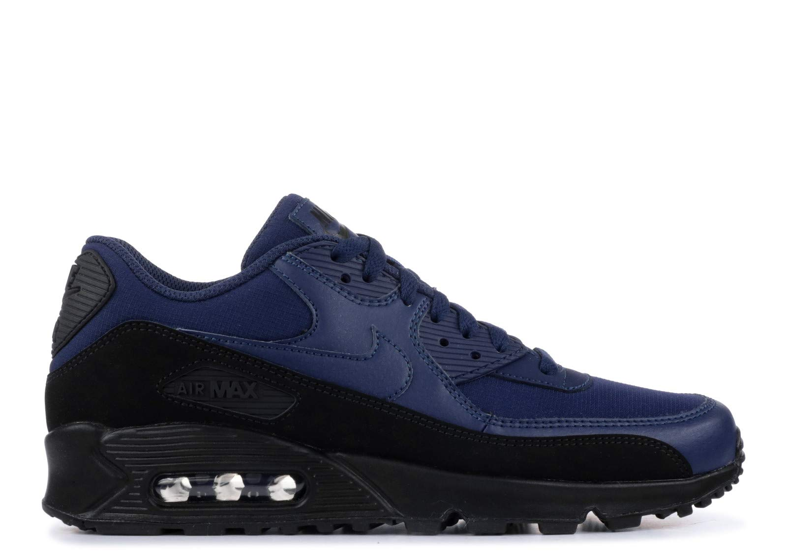 Nike Mens Air Max 90 Essential Running Shoes BlackMidnight Navy AJ1285 007 Size 10.5