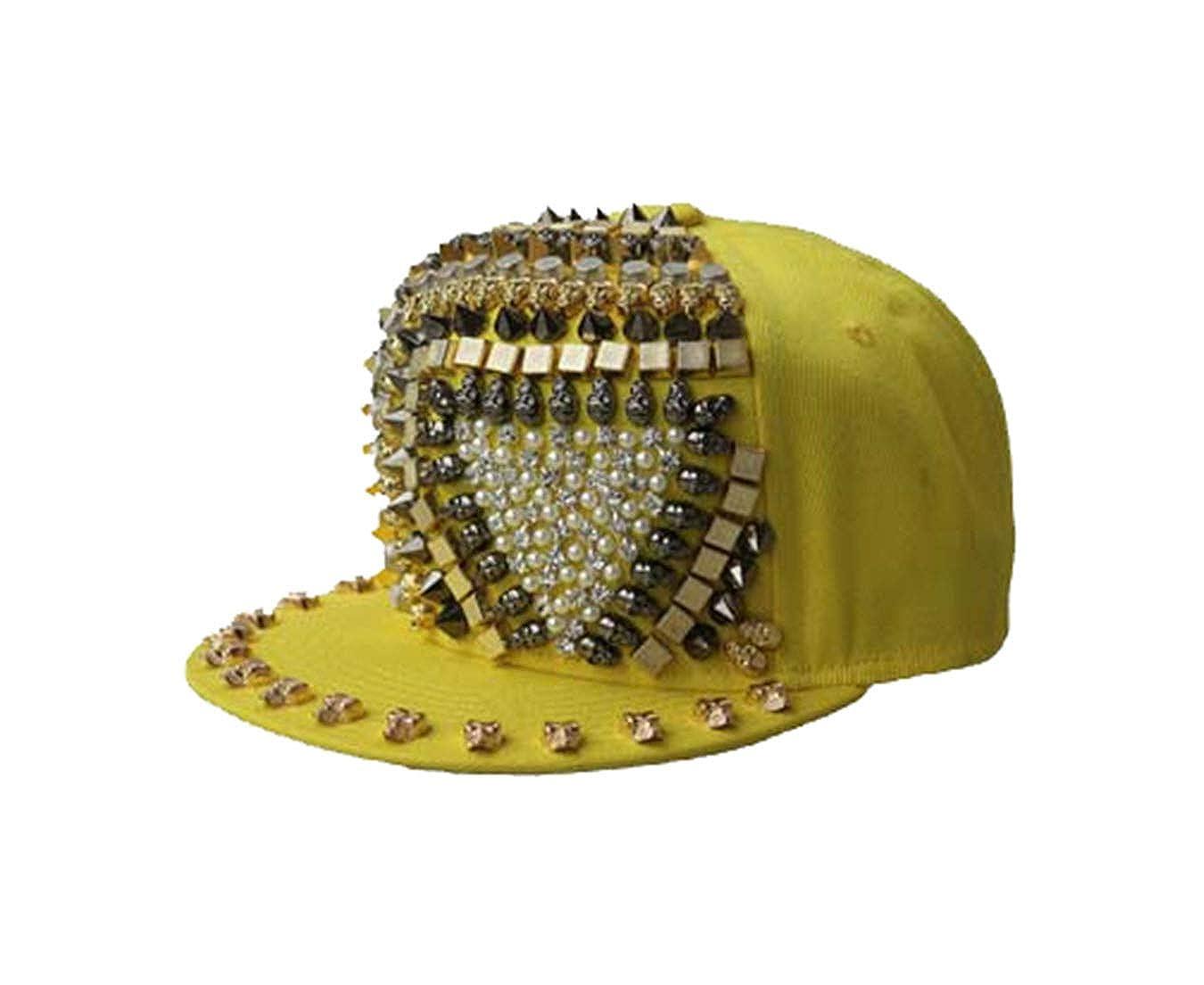 Topfly/® Unisex Leisure Fashion Baseball Cap Hip Hop hat Punk Boy Girl Outdoor Rivet Hat