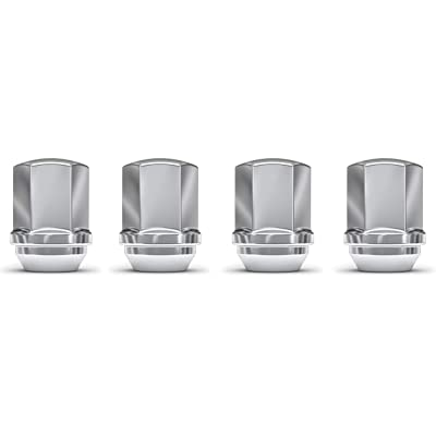 White Knight 1709D-4 Chrome M14x1.50 OEM Factory Style Lug Nut for Ram 1500, 2500, 3500, Dodge Durango, Chevy Camero, Chrysler 300, 4 Pack: Automotive