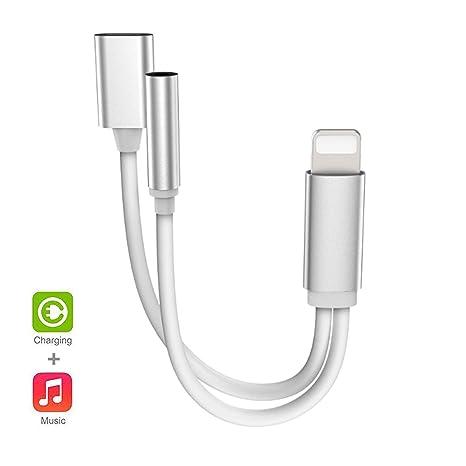 Amazon.com: Adaptador de auriculares para iPhone Splitter 2 ...