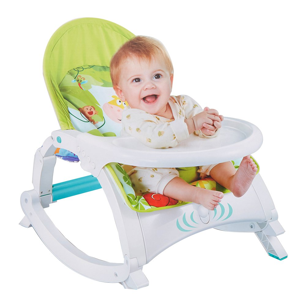 COLORTREE Newborn toToddler Portable Rocker with Dinner Table Boy