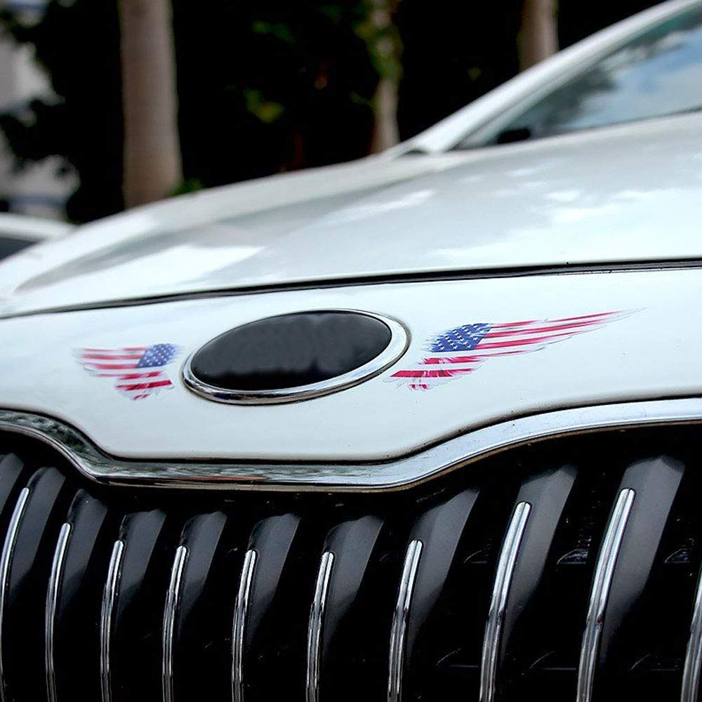 1 Unids Wing Car Auto Body Etiqueta Engomada Reflectante Autoadhesiva Side Truck Gr/áficos Calcoman/ías Bandera Americana Inglaterra Bandera Alemana USA