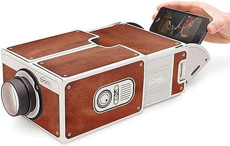 Opinión sobre HaiQianXin DIY Mini Smartphone Proyector Teléfono portátil Proyector Teléfono móvil Cine en casa Cine