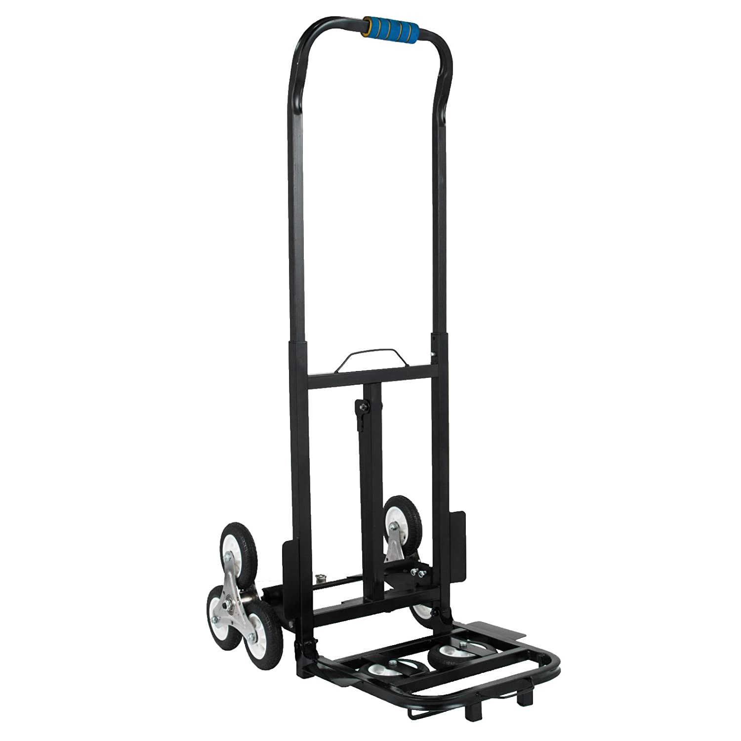 VEVOR Stair Climbing Cart 45 Inches Portable Hand Truck 2x Three-wheel Hand Truck Stair Climber 330LB Capacity Folding Stair Hand Truck Heavy Duty With 2 Backup Wheels