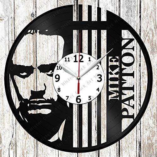 Vinyl Clock - Vinyl Wall Clock - Mike Patton - Custom Design - Handmade Original Gift - Personalised Vinyl Record Wall Clock - Unique Art Home Decor -