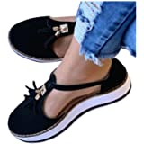 Hemlock Women Flats Shoes Tassel Round Toe Shoes Platform Sandals Thick Bottom Buckle Strap Walking Shoes Sneakers