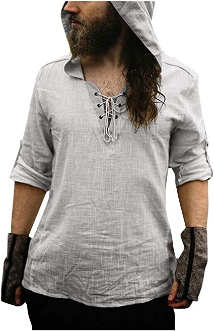 Camisa de manga larga para hombre, de lino y manga larga, ajustada ...