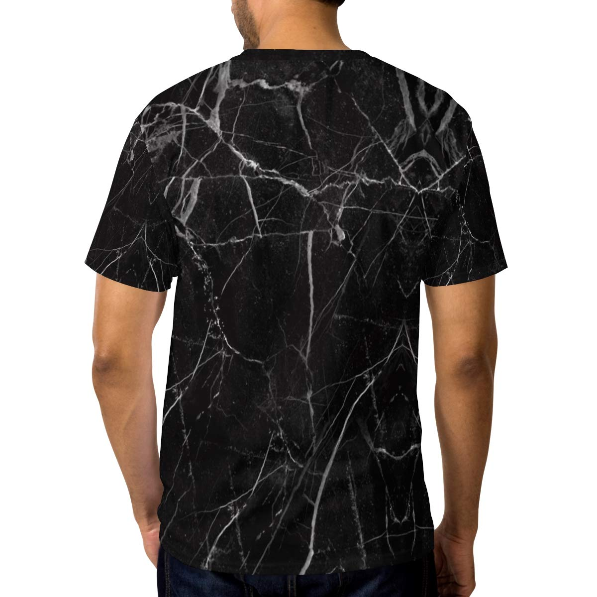 Marble Black Rock Mens T Shirts Graphic Funny Body Print Short T-Shirt Unisex Pullover Blouse