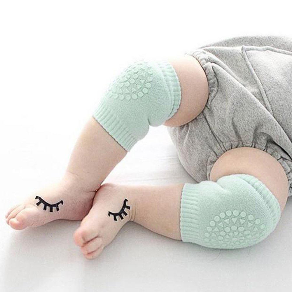 Children Crawling Anti-Slip Knee Protector Leg Warmers Kids Safety Cotton 4pcs amazingdeal Baby Knee Protection Pads