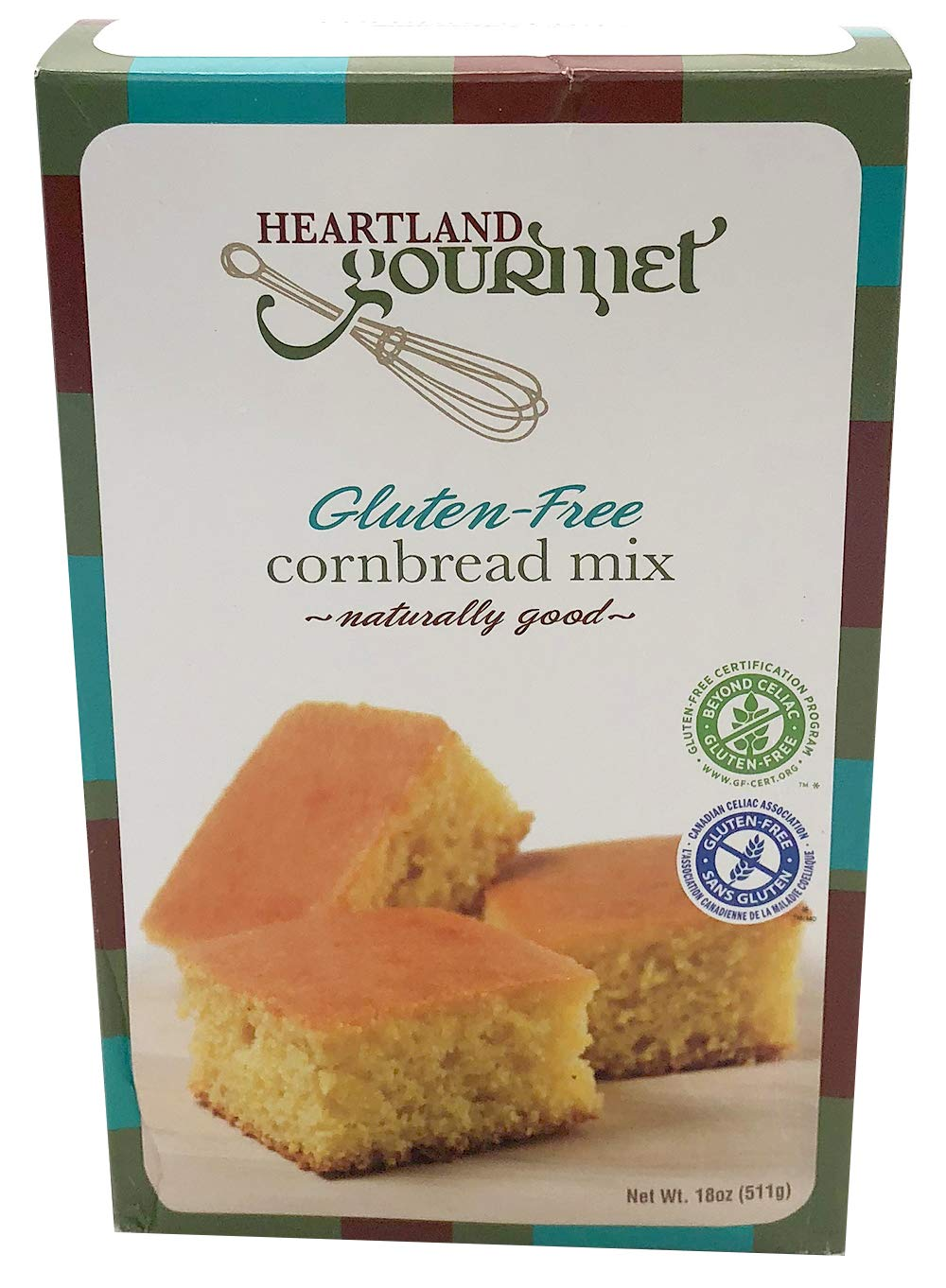 Heartland Gourmet Gluten Free Cornbread Mix - Buttery and Chewy- Certified Gluten Free Ingredients - All Purpose - Safe for Celiac Diet by Heartland Gourmet