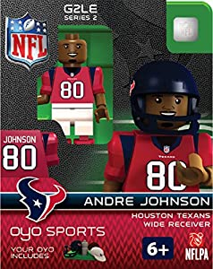 NFL Houston Texans Andre Johnson Gen 2 Mini Figure, Small
