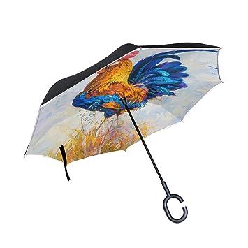 ISAOA Paraguas Plegable de Doble Capa, Paraguas de Auto de ...