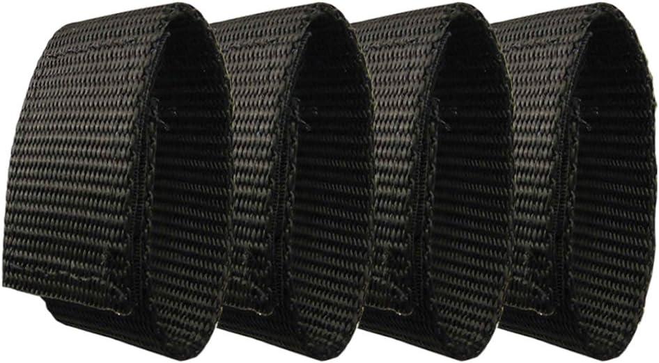 "Fusion Tactical Military Police Patrol Belt Keeper Adjustment Strap Loop 1"" Wide/7"" Long Set of 4 Black"