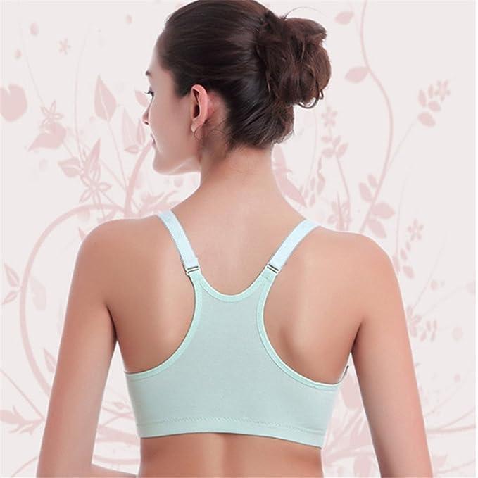 1d3b59763c Amazon.com  RTWAY Nursing Bra 100% Cotton Wireless Maternity Sleep Bra  Front Open For Breastfeeding  Clothing