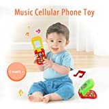 Bundle of 2, Goolsky Coolplay Colorful Baby Music Cellular Phone Toy Flip Diary Case Cover Musical Mobile Phone Cellphone Intellecture Enlightment Toy with Lights and a Mirror
