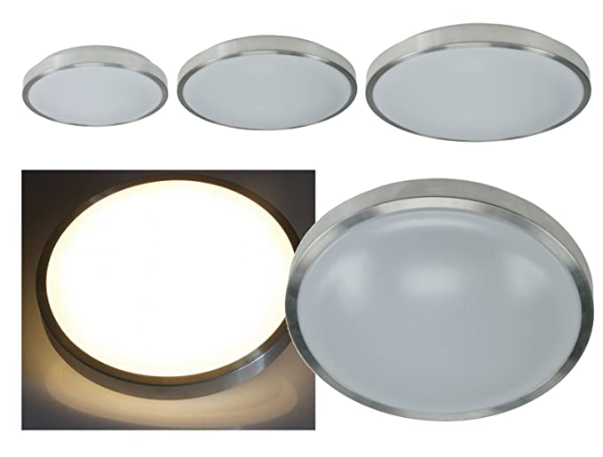 Plafoniera Led Bagno : Plafoniera led in alluminio ip44 per bagno ed esterni 12 20w fino