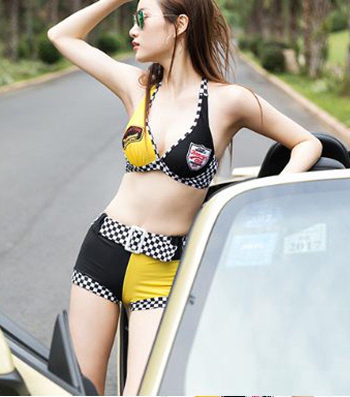 Sport und Freizeit Badeanzug Damen Kleine Truhe Bronze Tuo Gather Slim War Thin New Flat Bikini Badeanzug