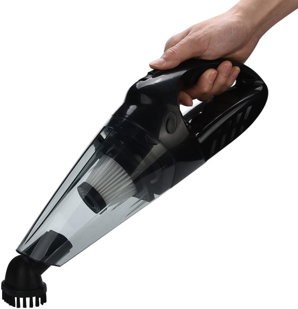 STRIR Aspiradora Alámbrica de Mano para Coche 12V 120w 75dB, Limpieza de Material Seco o Húmedo con Silenciosa, Aspiración Ciclónica, Alta Tecnología y Moda (Negro): Amazon.es: Hogar