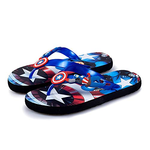 cc48bfdafe42 Kids Boys Captain America Slippers Sandals Thong Flip Flops Beach Shoes (1M  US Little Kid