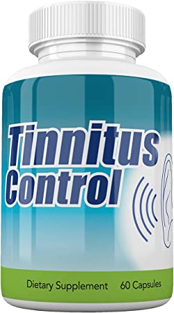 Stop The Ring with Tinnitus Control - Fast-Acting Tinnitus Relief from Ringing Ears - Outer, Inner Ear Ringing Tinnitus Treatment with Fast Acting Ginkgo Biloba - 60 Capsules (1 Pack)