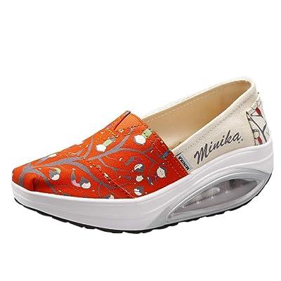 Yesmile Zapatillas Deportivas Plataforma Mocasines Primavera Verano Planas Ligero Tacon Sneakers Cómodos Calzados Casuales Mujer: Zapatos y complementos