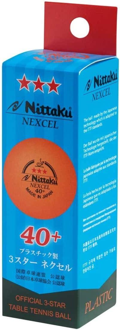 NITTAKU Nexcel 40+*** - Pelotas de Tenis (3 Unidades)