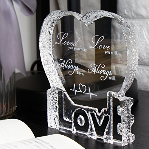 YWHL Love Crystal Sculpture gifts for Anniversary,Wedding,Valentine's Day by YWHL (Image #1)