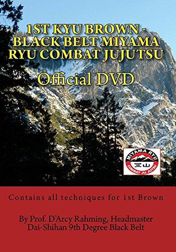 1st Kyu Brown - Black Belt Miyama Ryu Combat Jujutsu