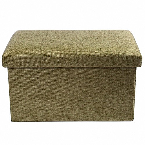 epeanhome Storage Ottoman Polyester Folding Stool,Foot Rest Seat,Clutter Toys Collection 16