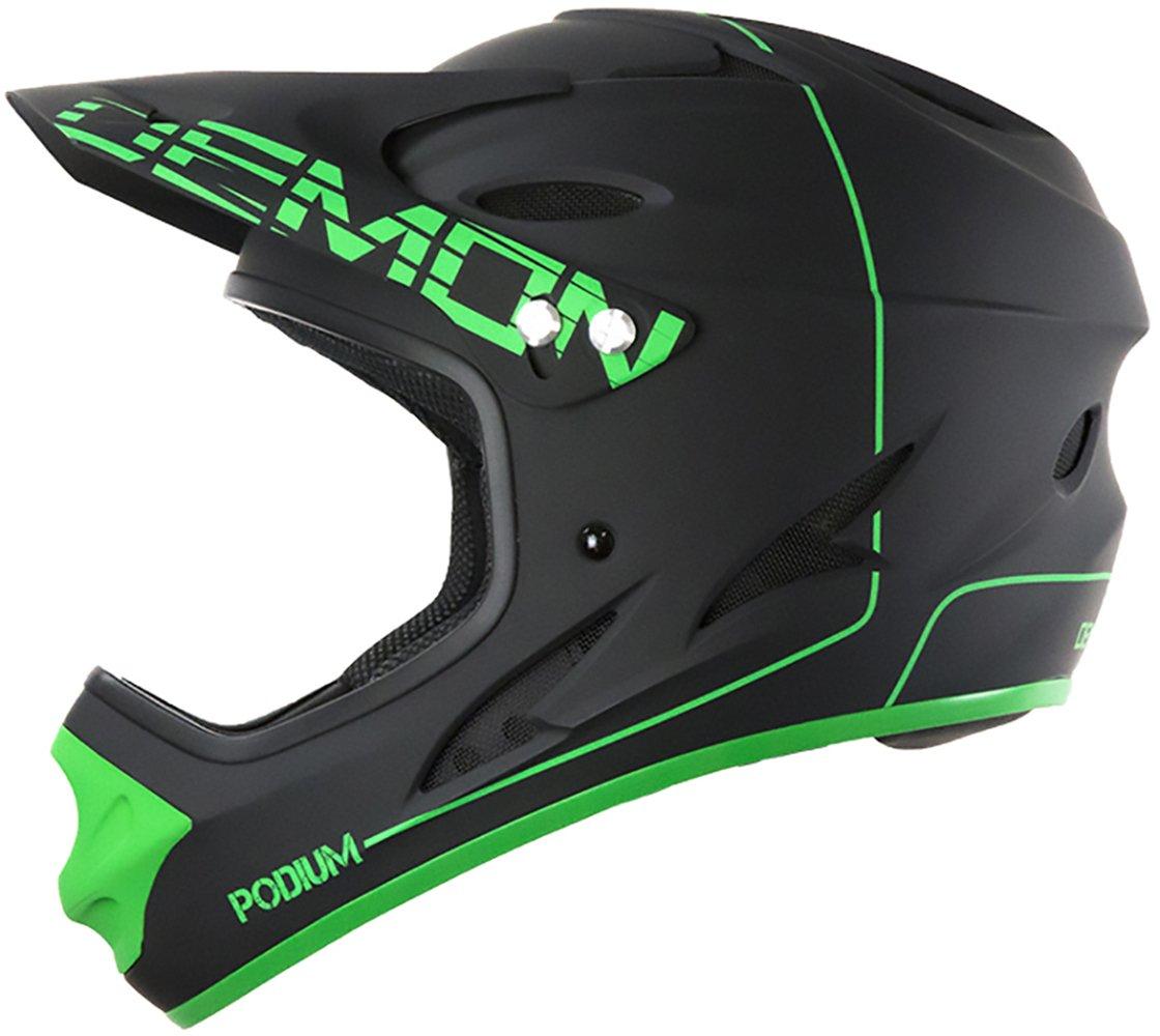 Demon United Podium Full Face Helmet Black/Green Sm
