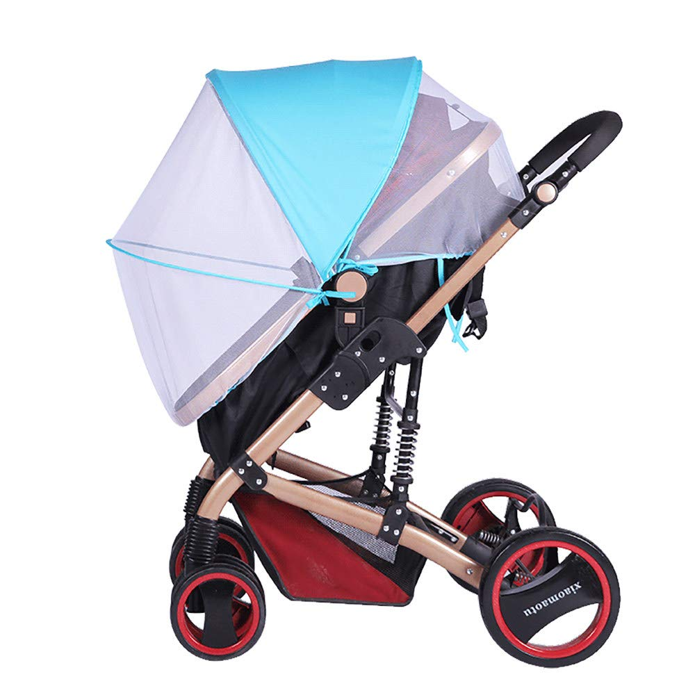2-in-1 Baby Stroller Mosquito Net&Sun Shade Canopy,Baby Stroller Sun Shade Canopy,Universal Baby Sunshade,Sleep Aid for Pushchairs,Black by ACOMG (Image #7)