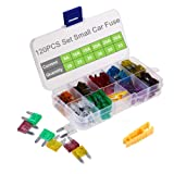 Car Fuses 120pcs Assorted, OUHL Small Blade Fuse