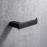 Turs Square Toilet Paper Holder Hotel Bathroom Tissue Paper Roll Holder SUS 304 Stainless Steel RUSTPROOF Wall Mount, Matte Black Finish, N1002BK
