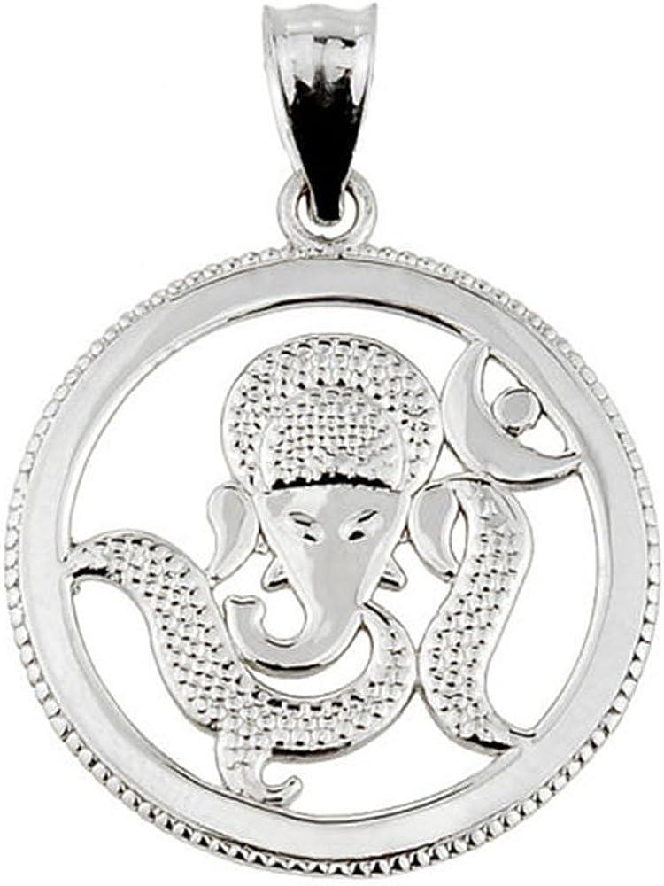 Elephant Ganesha Pendant Elephant Charm Elephant Jewelry 925 Sterling Silver Elephant Pendant