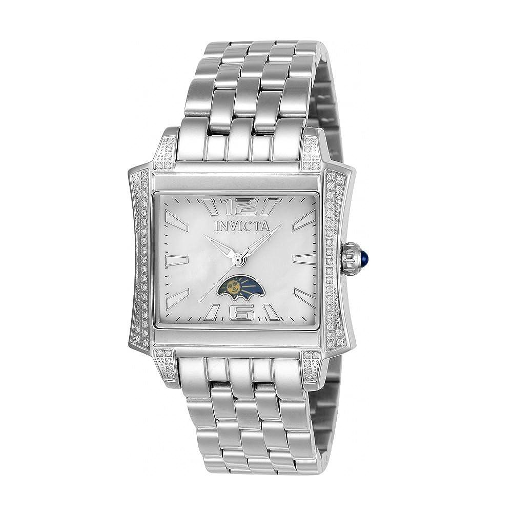 Amazon.com: Invicta Women's 'Elite Diamond' Quartz Stainless Steel Casual  Watch, Color:Silver-Toned (Model: 23694): Watches