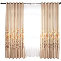Blackout Drape, Simple Convenient Practical Durable Bedroom Curtains, for Bedroom(Brown)