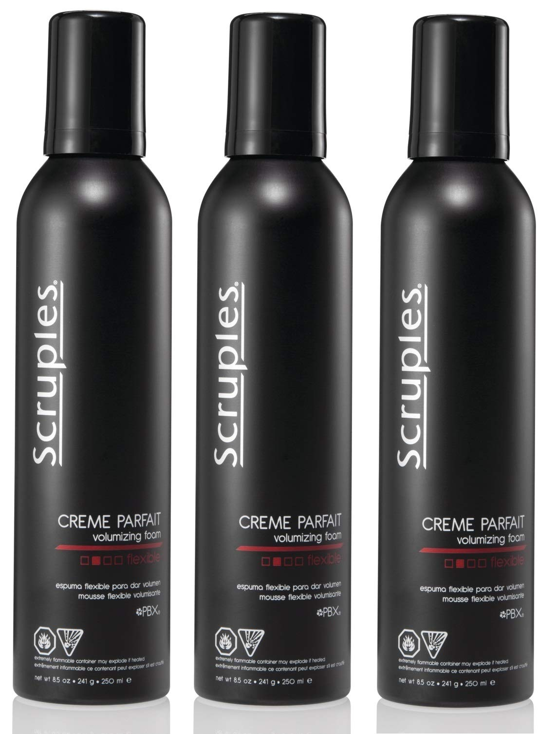 Scruples Creme Parfait Volumizing Foam (8.5 fl oz / 250 ml) - Hair Thickening Mousse for Men & Women - Alcohol Free & Lightweight - Hair Styling Mousse for Fine & Thin Hair - Pack of 3