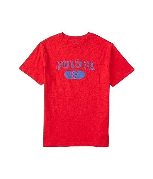 abec9c2eb858ab Amazon.com  Polo Ralph Lauren Cotton Jersey Graphic Tee (X-Large ...
