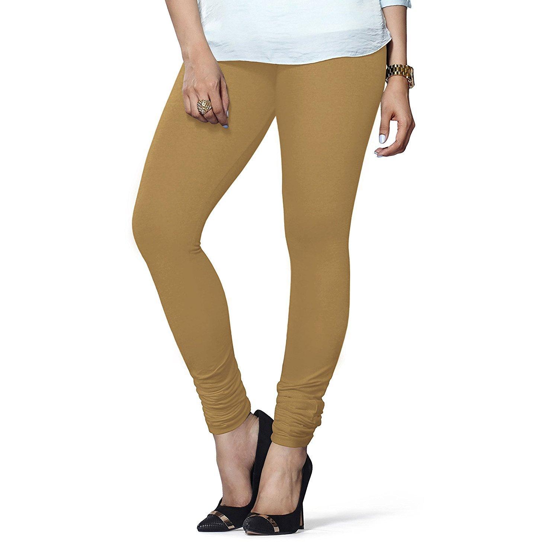 Ladyline Churidar Leggings Plain Cotton Indian Yoga Workout Extra Long Soft-Leggings